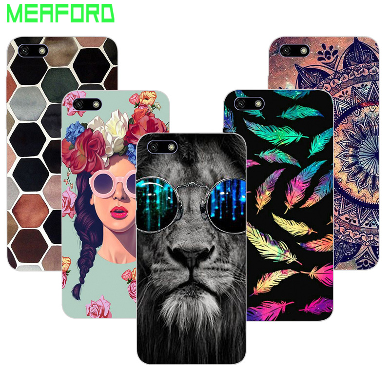 For Huawei Honor 7S Case Soft TPU Silicone Cover Mandala Cartoon Phone Case For Huawei Y5 Lite 2018 5.45