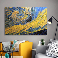 1 Piece Modern Abstract Posters And Prints on Canvas Wall Art Painting Starry Sky Pictures For Living Room No Frame