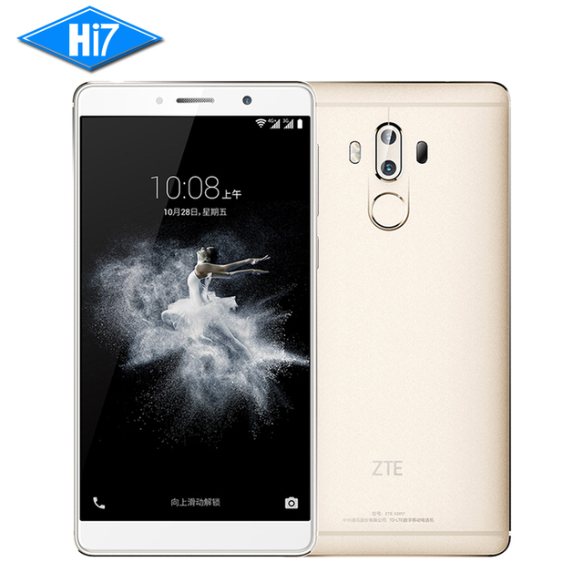 New Original ZTE Axon 7 Max 4GB RAM 64GB ROM Cell Phone Hi-Fi Fingerprint Dual Rear Snapdragon 625 Android Octa Core 6.0 inch