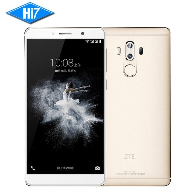 New Original ZTE Axon 7 Max 4GB RAM 64GB ROM Cell Phone Hi-Fi Fingerprint Dual Rear Snapdragon 625 Android Octa Core 6.0 inch
