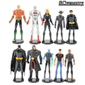 DC Comics The Avengers Superheros Superman PVC Action Figures Batman Superman Flash Aquaman Captain Atom 10pcs/lot Free Shipping