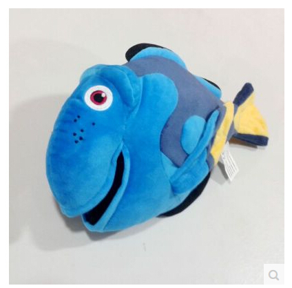 Cartoon Movie Finding Nemo Blue Clown Fish Stuffed Nemo Friend Dory Plush 30cm