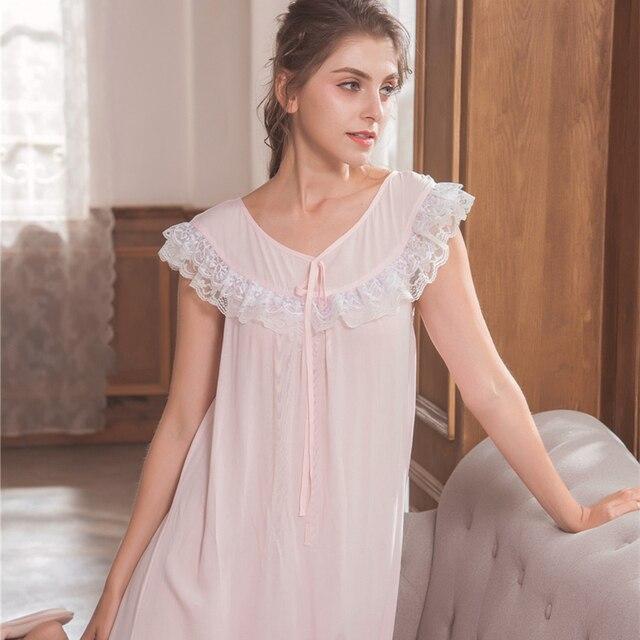 94ee117be2 Nightgown Women Sleepwear Short Dress Cotton Simple Homewear Summer Sleepwear  Ladies Princess Nightdress Summer