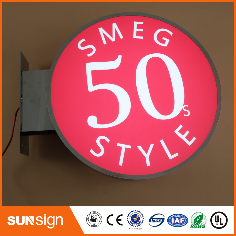 Custom Led Sign Box Stainless Steel Sign Light Box