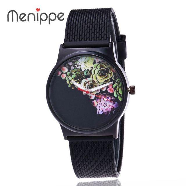 2017 Newest Flower Printed Watches Fashion Women Analog Quartz Wristwatch Newly