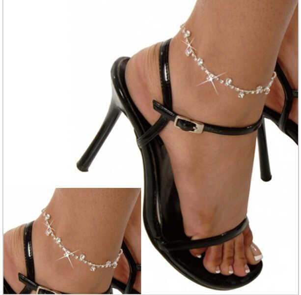 卸売女性女の子ファッションかなりディアマンテフットチェーンアンクレット足首ブレスレット新しい足ジュエリー