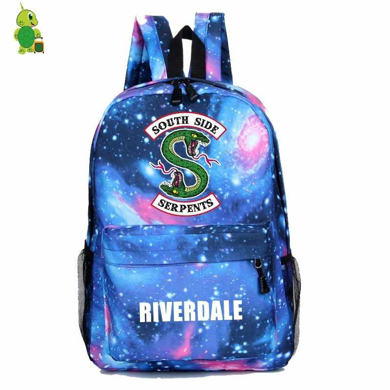 Riverdale South Side Backpack Mochila School Bags for girls boys Women Men Casual Travel Bag Galaxy Children Book Bags Kids Gift