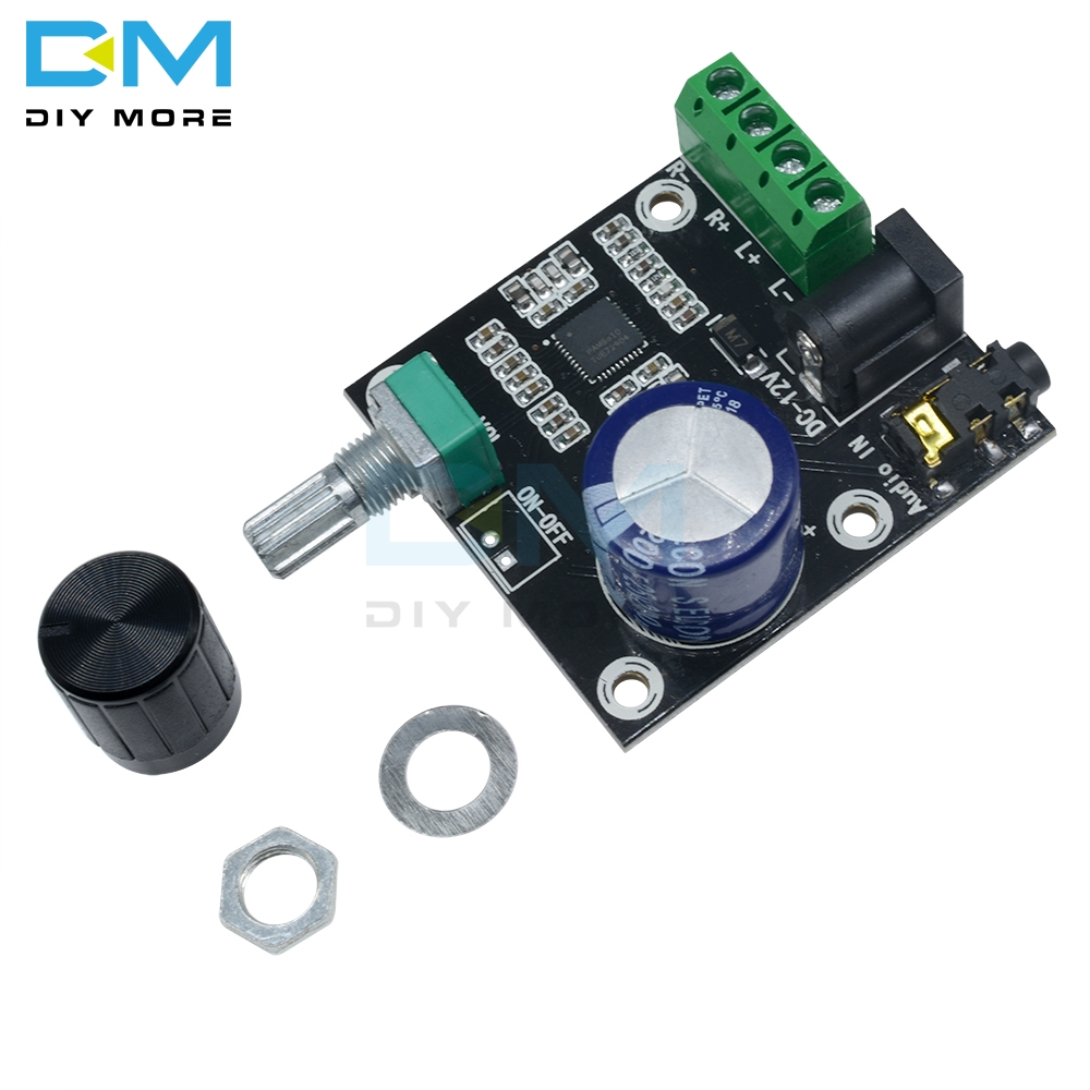 DC 12V 20mA Super Slim 2 x 15W <font><b>PAM8610</b></font> Class D Digital Dual Power Audio Amplifier Drive Driver Module Driver Board image