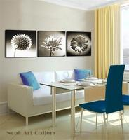 2016 Beautiful Flower Painting Simple Abstract Canvas Art Print For Modern Living Room Decoration 3 Pieces