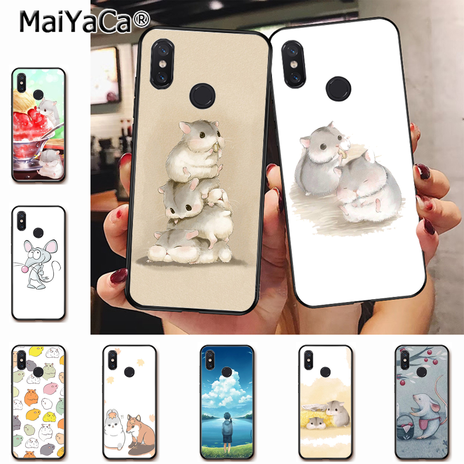 MaiYaCa Cute mouse lovely Amazing Phone Accessories Case for xiaomi mi 6  8 se note2 3 mix2 redmi 5 5plus note 4 5 5 case coque