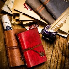 «Traveler's Handbook Pocket» Travel Diary Notebook Faux Leather Cover Bound Any Year Journal