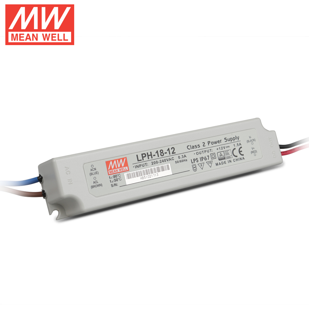 Taiwan Mean Well Lph 18 12 18w 12v15a Led Switching Power Supply Protectors Circuit On Smps Protection Ip67 In Lighting Transformers From Lights