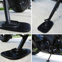 Hot New 1 Pc motocykl rower Kickstand Side Kick stojak Pad płyta podstawa ochronna dla Yamaha Honda Harley wysokiej jakości tanie tanio KOU JIANG CN (pochodzenie) 7HH1200526 00cm Plastic