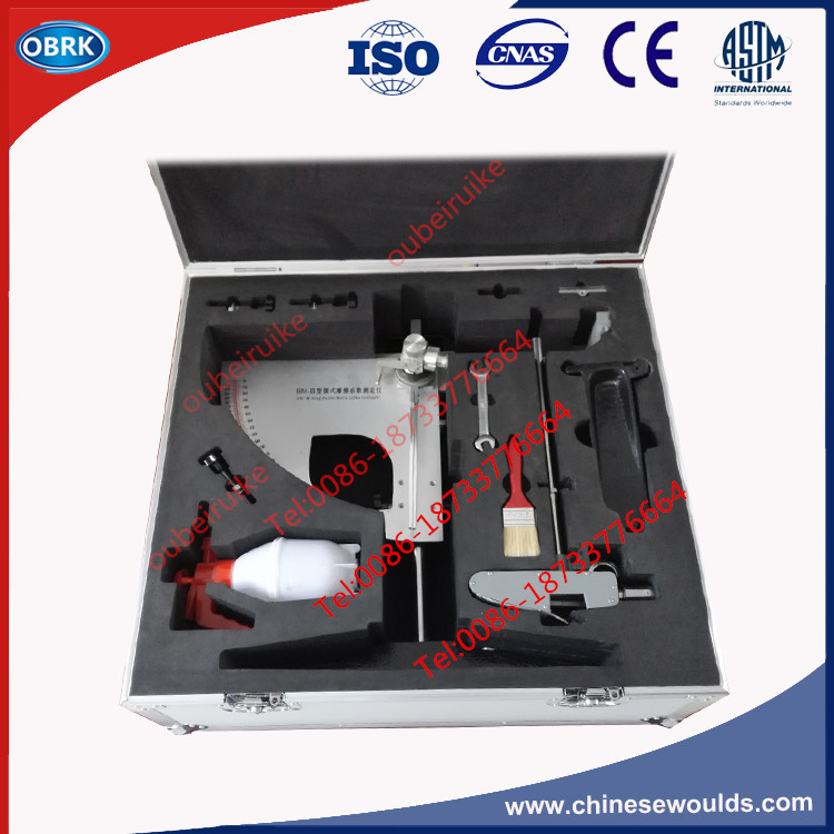 Pendulum Slip Resistance Tester Packed In Aluminum Alloy Case With Two Rubber Sliders