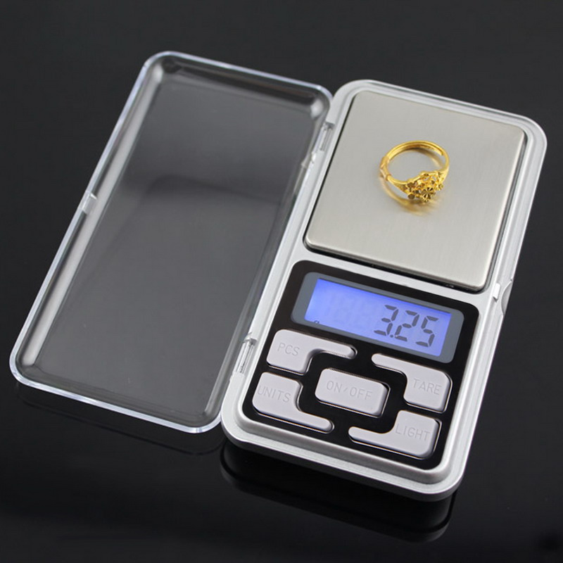 Portable 200g x <font><b>0.01g</b></font> Mini Precise LCD Display <font><b>Digital</b></font> <font><b>Scale</b></font> Jewelry Pocket Balance <font><b>Weight</b></font> Gram with blue backlight g/tl/oz/ct image