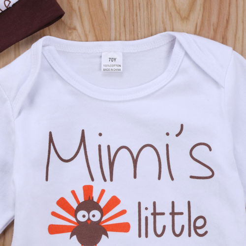 b9919cc0b Thanksgiving Day Newborn baby boy girl clothes letter Romper Bodysuit Turkey  print Pants Outfits festival baby clothes gift-in Clothing Sets from Mother  ...