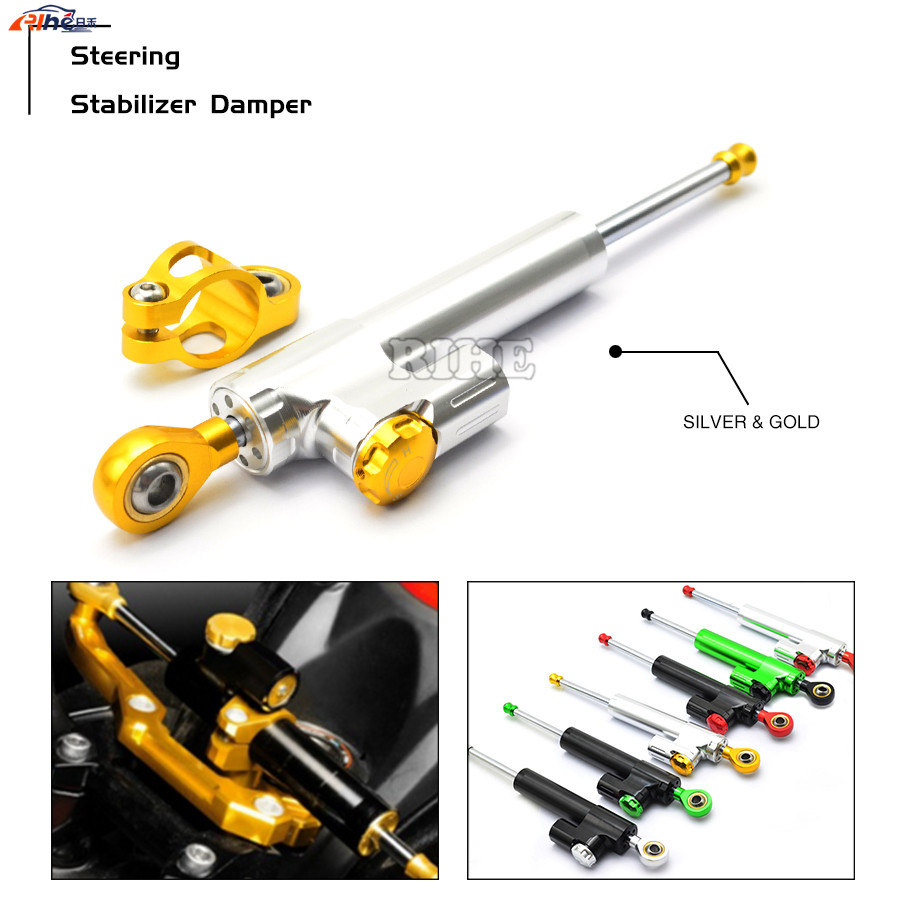 Universal Motorcycle CNC Damper Steering Stabilizer Linear Reversed Safety Control For Ducati MONSTER M400 M600 M750 ST2 ST4 BMW motorcycle accessories custom fairing screw bolt windscreen screw for ducati monster m400 m600 m620 m750 m900 st2 st4 s abs