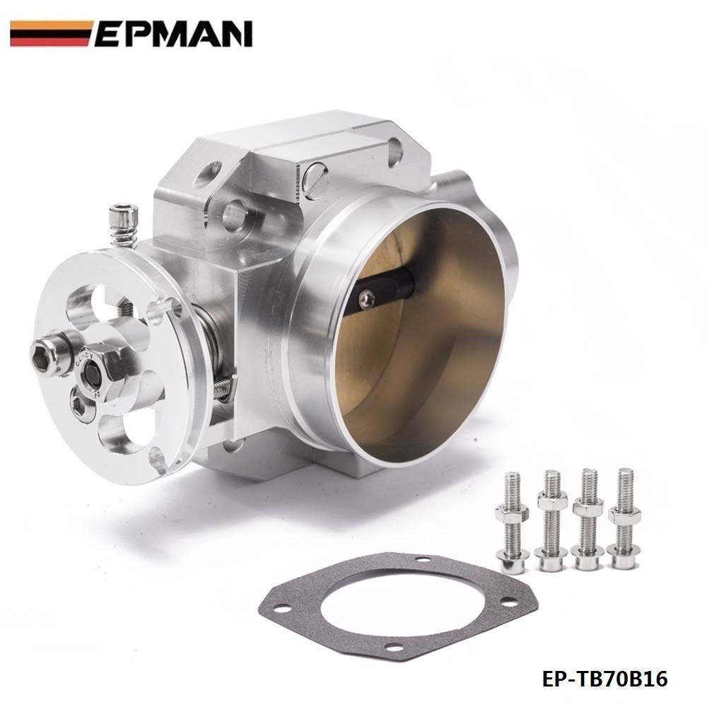 Aluminum Silver Intake Manifold 70mm Throttle Body For