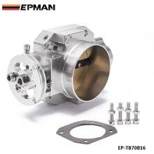 Manopla de admissão de alumínio e prata, 70mm, corpo do acelerador para honda b16 b18 d16 f22 b20 d/b/h/f eg ek h22 EP TB70B16