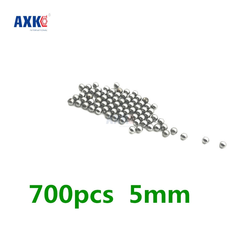 700pcs Replacement Parts 5mm Diameter Bike Carbon Steel Ball Bearing New imc hot 100 pcs bicycle replacement silver tone steel bearing ball 6mm diameter