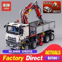 Лепин 20005 техника серии 2793 шт. Arocs модели грузовик строительные блоки кирпичи Классические игрушки совместим с 42043 для мальчиков Подарки