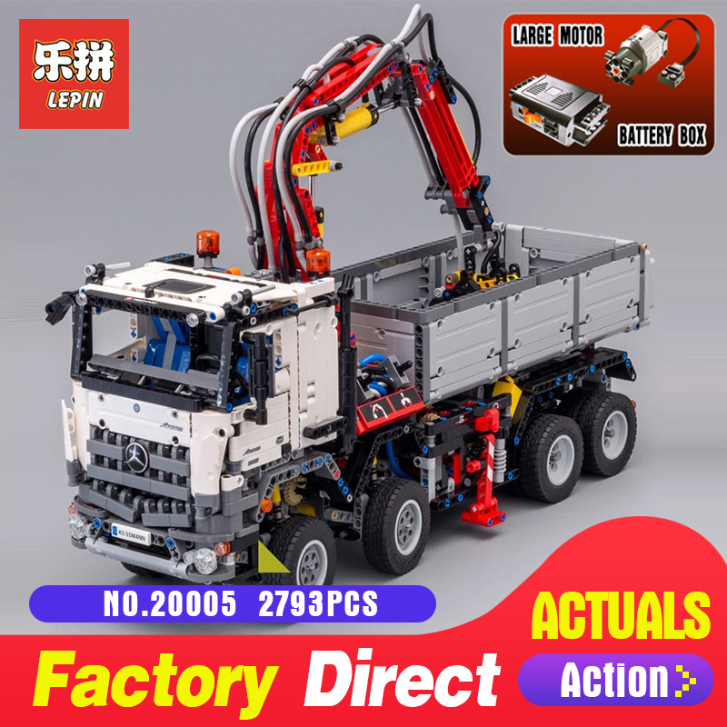 LEPIN 20005 Technic series 2793pcs Arocs truck Model Building blocks Bricks Classic toy Compatible with 42043 for Boys Gifts 2793pcs new lepin 20005 technic series arocs model building blocks bricks compatible with toy for children 42043