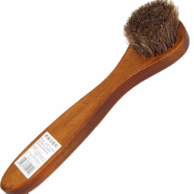 1 adet Uzun Ahşap Saplı Kıl Saç Ayakkabı Fırçası Temizleme aracı Ayakkabı Parlatıcı Lehçe Parlatıcı Fırça Bakımı