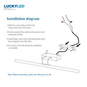 Image 5 - Luckyled Moderne Wandlamp Badkamer Verlichting 12W 90 260V Muur Gemonteerde Waterdichte Led Spiegel Inox wandkandelaars