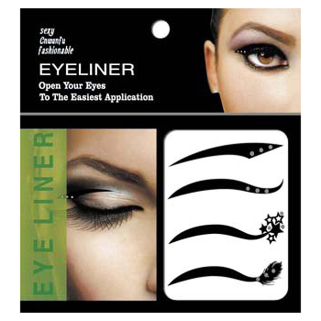 4pair Sexy Style Eyes Sticker Black Eyeliner Tattoo Tape Smoky