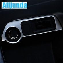 Alijunda For Mitsubishi outlander 2013 2014 Cigarette Lighter panel sticker stainless steel panel decoration