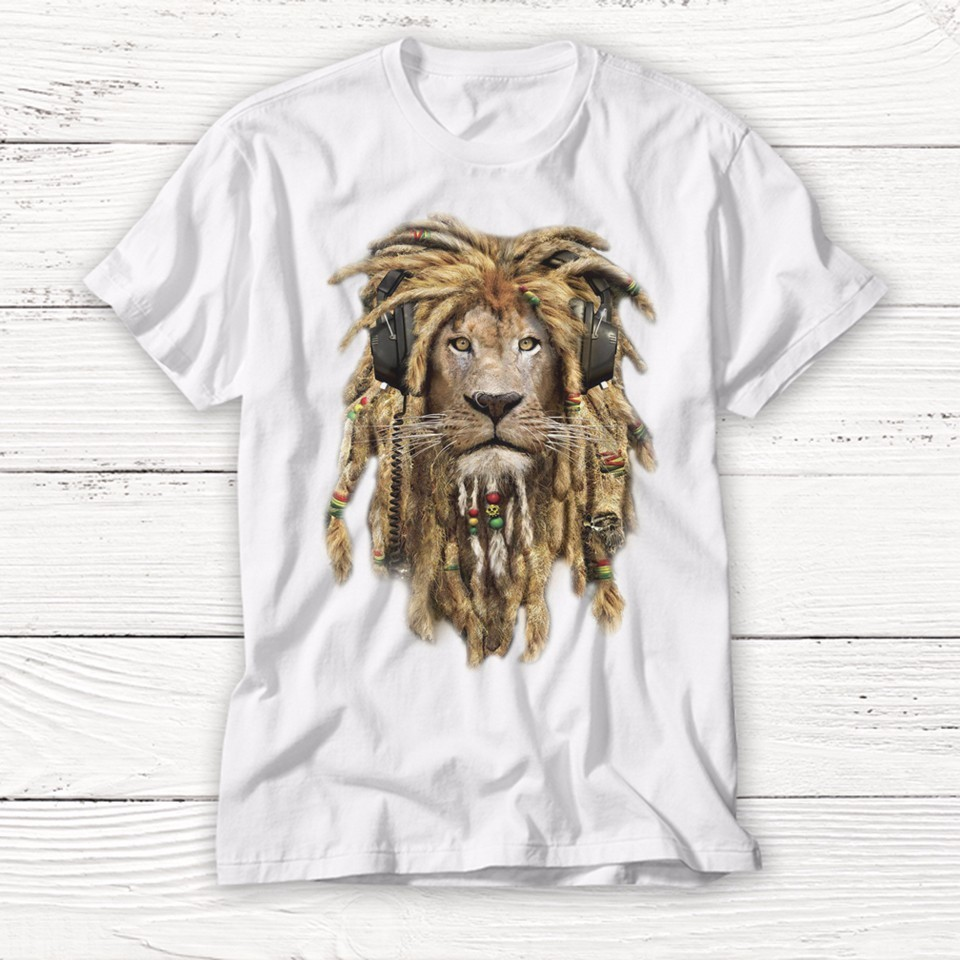 2018 New Wild DJ Lion King Print T Shirt Funny Animal Rock T Shirts Casual Short Sleeve O-neck 3D Print Tshirt Men