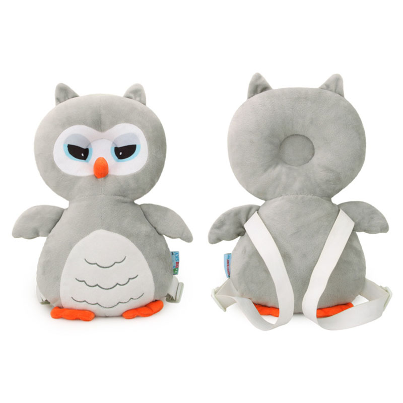 Cute cartoon owl cotton baby head pillow anti-fall soft safety protection babys toddler plush toys