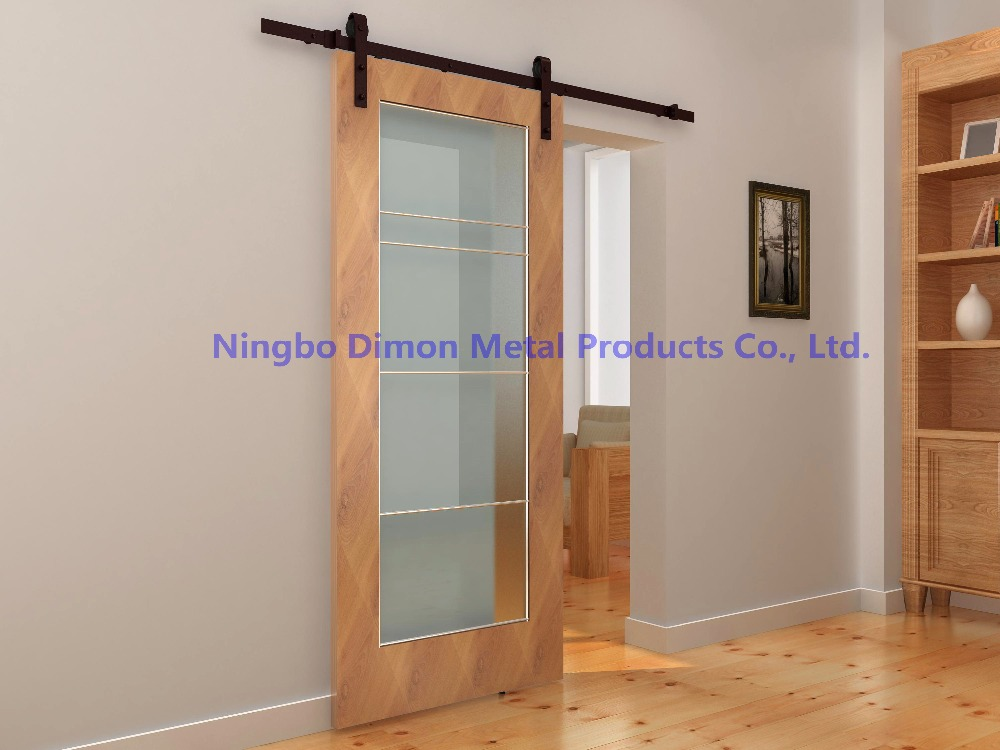 Купить с кэшбэком Free shipping Dimon hot sell America style sliding wood door hardware DM-SDU 7201 with damper kits (without sliding rail)