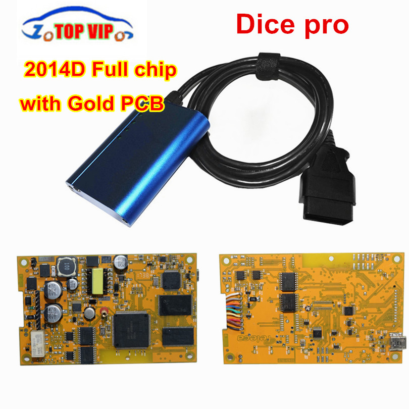Green Board! Vida Dice 2014D Full Chip Multi-Language For Vo-l-vo Dice Pro+ Vida Dice Full Function Diagnostic Scanner Tool multi function green