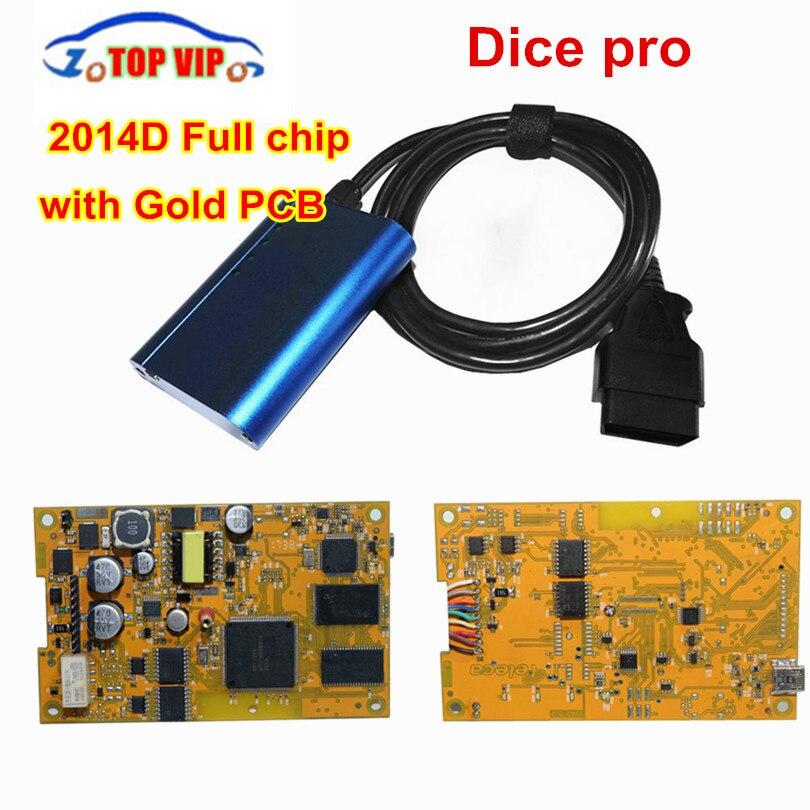 Gold Board! Vida Dice 2014D Full Chip Multi-Language For Vo-l-vo Dice Pro+ Vida Dice Full Function Diagnostic Scanner Tool