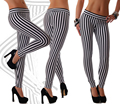 2017 New Sexy Women's Leggings Striped leggings T2365