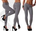 2017 New Sexy Women's Leggings Striped leggings T2365