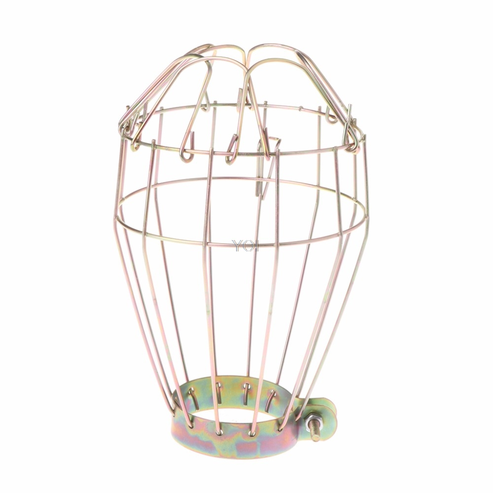 Industrial Ironing Wire Lamp Security Guards Clamp Light Metal Spare Parts Cage For Reptiles Amphibians Supplies