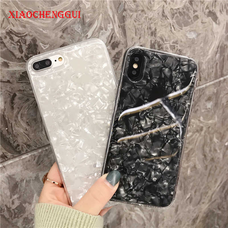 Glitter Ponsel Case untuk iPhone 7 Plus Mimpi Shell Pola Kasus untuk iPhone XR X MAX 7 6 6 S PLUS Soft TPU Silicone Cover