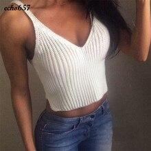 Hot Sale Fashion Women Tank Tops Echo657 New Fashion Knit Crop Women Slim Sling Tank Tops Camis Vest Jan three