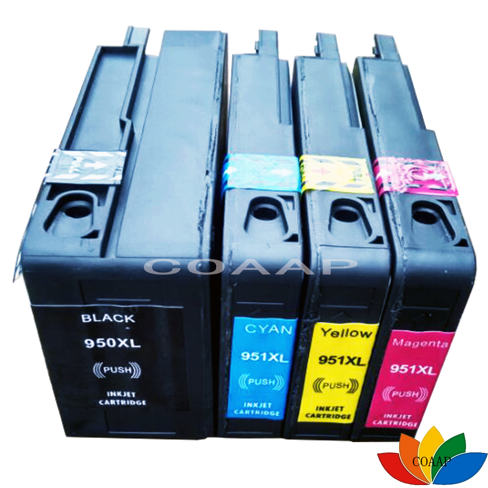 4PK Compatible 950 951 Chipped tintes kasetnes HP 950XL hp951XL Officejet Pro 8100 8600 8610 8620 8640 8600 Plus printeriem