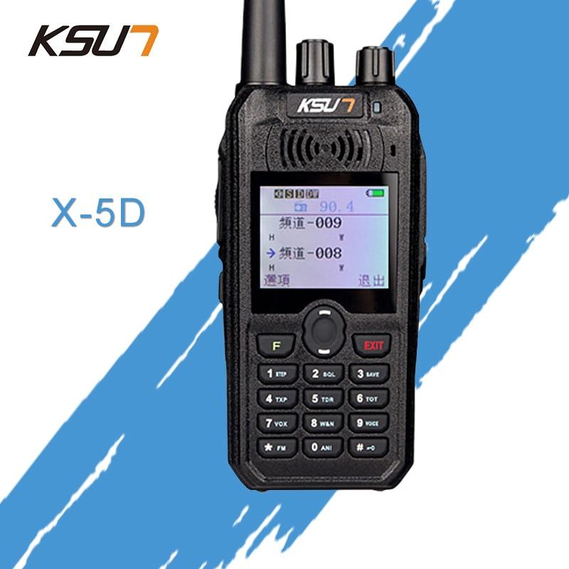KSUN X-UV5D Walkie Talkie Portatile VHF UHF Two Way Ham Radio Transceiver Dual Band Palmare Walkie Talkie Two Way Communicator