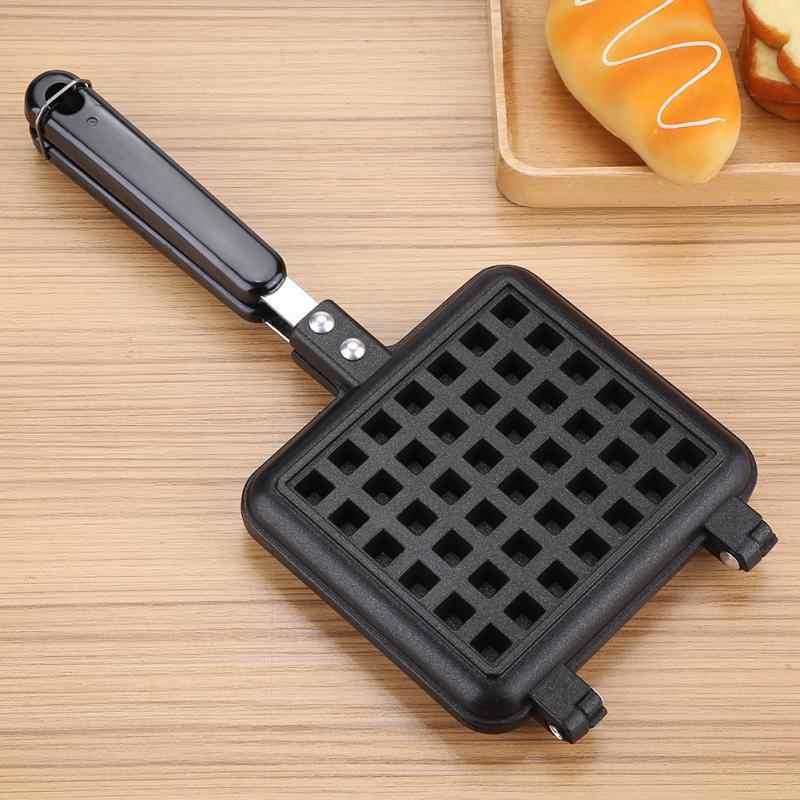 Non-Stick เครื่องทำวาฟเฟิลแม่พิมพ์แบบพกพาเครื่องใช้ในครัวเรือนครัวแก๊ส PAN ฟองเค้กไข่เค้กอาหารเช้าเครื่อง