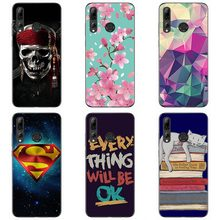 Soft tpu phone case colour Mobile phone shell For Huawei enjoy 9S Soft silicon Phone Case colorful painting skin shell(China)
