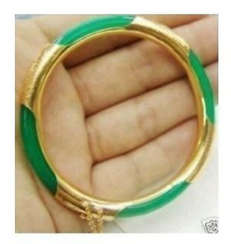 A Charming Real Green Bracelet Bangle 57