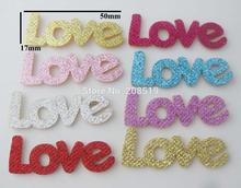 PANVAN padded glitter patches Love pattern 50pcs hand made hairpins accessories