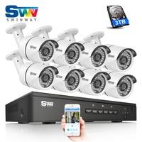New Listing Plug And Play 8CH NVR POE Video Surveillance Kit 1080P HD H 264 36