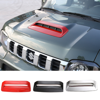 SHINEKA Auto Engine Air Flow Intake Hood Scoop Vent Cover Trim Decoration ABS Car Styling Accessories For Suzuki Jimny 2012-2015 2pc car auto decorative side vent air flow fender intake stickers silver new