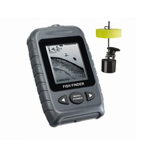Round Transducer Portable Fish Finder 2 Levels Grayscale 200KHZ Frequency