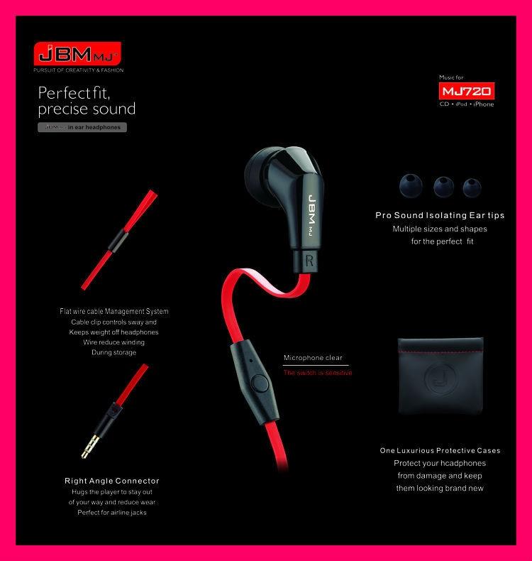 JBM-MJ720 Auriculares estéreo para bajos Auriculares Manos libres de - Audio y video portátil - foto 4